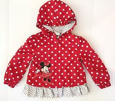 Diney girl hooded jacket sz 2/3T Red white Polyester