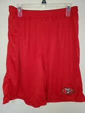 0724 Mens NFL SAN FRANCISCO 49ers Polyester Jersey SHORTS Embroidered RED New