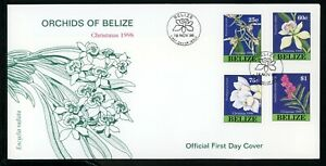 Belize Scott #1103-1106 COVER Orchids Flowers Christmas 1998 $$ TH-1
