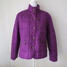 Lauren Ralph Lauren Womens Coat Large Purple Quilted Snap Winter Jacket Puffer