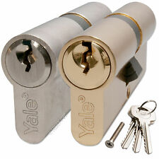 YALE Door Lock Cylinder Euro Profile 6 Pin Barrel for uPVC Aluminium Timber PVC