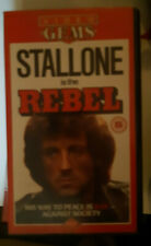 RARE english Rebel PAL VHS film 1973 Sylvester Stallone NO PLACE TO HIDE re-cut!