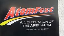 Ariel Atom AtomFest 1st National Convention & Race Competition Program OCT 2007