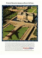 1989 American Airlines Travel European Estate Vintage Print Advertisement