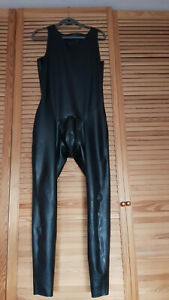 Simon O Latex Jumpsuit schwarz chloriert Größe M Herren