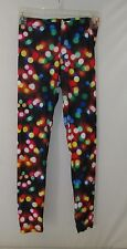 Fit Juniors Workout Yoga Leggings BRIGHT MULTI-COLOR LIGHTS Size XS  NEW W/Tags