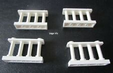 Lego 30055 x4 Barrière Fence 1x4x2 Blanc White City Friends 7573 3315 7346 MOC