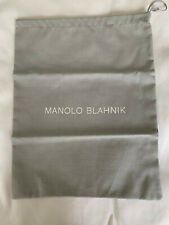 Authentic Manolo Blahnik Dust Cover Drawstring Bag Handbag Shoes 10.5�x13.5""