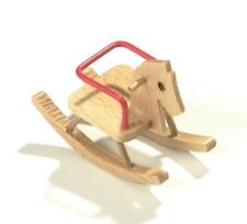 Puppenhaus Miniaturen Holz Schaukelpferd Länge ca. 8 cm Schwenk 23110