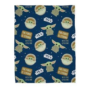 Star Wars Mandalorian Baby Yoda Fleece Blanket Bed Throw Matches Bedding
