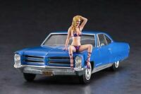 Hasegawa SP424 1966 American Coupe Type P w/Blonde Girls 1/24 Scale Kit F/S