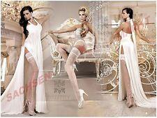 Geblümte nur handwäschegeeignete halterlose Damen-Strümpfe