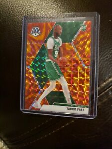 2019-20 Panini Mosaic Tacko Fall Rookie RC Orange Reactive Prizm #244 CELTICS
