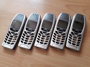 5 x KOMPLETTE Beschalungen für Nokia 6310i Nokia 6310     NEU UND IN SILBER