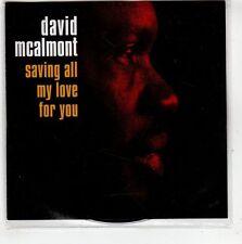 (GT946) David Mcalmont, Saving all My Love For You - 2005 DJ CD