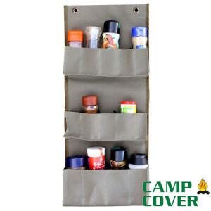 Camp Cover Spice Rack - 60 x 0.5 x 25 cm - Khaki Ripstop - CCH017-A