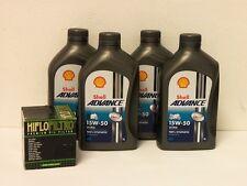 Shell Advance ultra 4t 15w-50/filtro aceite ducati 1100 hypermotard todos BJ 08 - 12