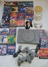Sony PlayStation 1 / PS 1 - MIT CHIP - 34 Spiele gebrannt + 2 original controlle