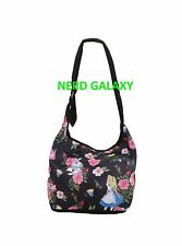Disney Alice In Wonderland Floral Hobo Bag, Purse, Loungefly NEW! FREE SHIPPING!