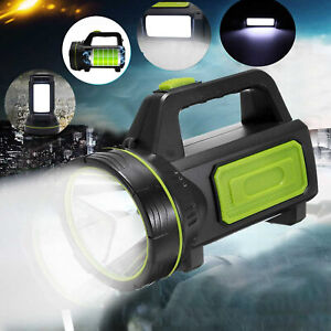 300000LM LED Searchlight Hand Lamp Torch Work Light USB Rechargeable Spotlight