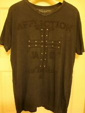Affliction Los Angeles Embroidered Studded mens shirt Sz Xl MMA !