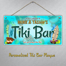 Personnalisé Grand Tiki Bar Hanging Sign Plaque/Cadeau Bière Boisson cocktails Beach
