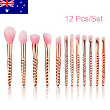 12PCS Kabuki Make up Brushes Set Makeup Foundation Blusher Face Powder Brush AU