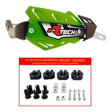 PARAMANI RACETECH FLX ALU VERDI + KIT MONTAGGIO (Handguards + Fitting Kit)