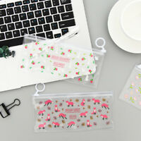 1PC Zipper Pencil Bag Animal Floral Waterproof Stationery Storage Makeup Cases