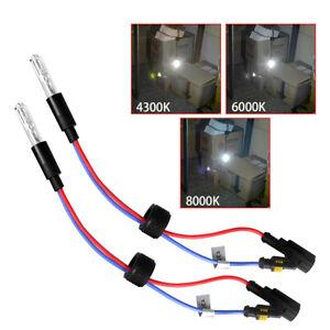 Pair Xenon Bulbs 35W 6000K For Bi Xenon HID Projector Lens Retrofit Headlight