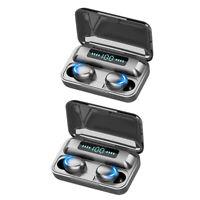 4pcs 2000mAh Battery Long Standby Bluetooth Headphone TWS HD Stereo Earbuds F9