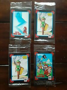 Vintage Nintendo Impel 4 Promotion Unopened Packs Trading Cards 1991 Mario Zelda