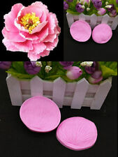 Flower 3D Clay Petal Leaf Silicone Fondant Mould Cake Decor Chocolate Baking nja