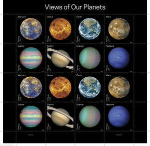 """USA - """"SPACE ~ VIEWS OF OUR PLANETS"""" MNH Miniature Sheet MS 2016 !"""