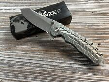 Kizer Cutlery Folding Knife Pocket Ki423 Nib - Green Titanium Ki4423 Sovereign