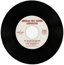 """LEE GARRETT  """"SEE THE LOVE ON YOUR FACE c/w SEARCHING"""" MODERN SOUL MOVER LISTEN!"""