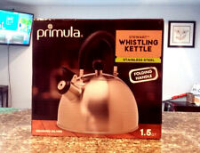 Primula Stewart Whistling Kettle Stainless Steel 1.5 Quart Silver, New and Clean