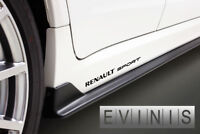RENAULT SPORT 2x Side Skirt Stickers Car Decals Graphics DEFAULT BLACK