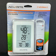 AcuRite Wireless Weather Thermometer with Humidity 00609SBLA1 Display + Sensor