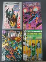 Lot Of 4 Assorted DC Comic Books 1 Green Lantern, 1 Catwoman, 1 Batman, 1 Damage