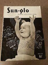 RARE Vintage Sun-Glo Baby Knitting book pre-decimal  Patterns series 31