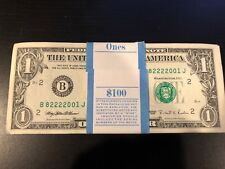 1995 One Dollar ($1) Bill Uncirculated Consecutive Sequential BEP Wrap - 1 Note