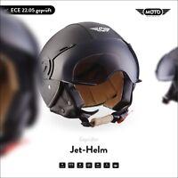 JET VESPA RETRO SCOOTER OPEN FACE Motorcycle MOTO Helmet H44 Leather XS S M L XL