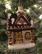 FIRMA BILINSKI  HAND MADE GLASS  GINGERBREAD CHRISTMAS ORNAMENT - POLAND