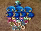 12  ---LPS Accessories - Littlest Pet Shop --- bed ---seat ----necklaces ---bows