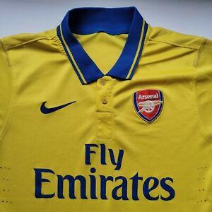 Nike ARSENAL 2013 2014 AWAY FOOTBALL SHIRT yellow JERSEY Özil 11 Ozil Medium Sm