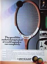 1981 DUNLOP 'Maxply Fort' Squash Racket & Balls Advert - Original Print AD
