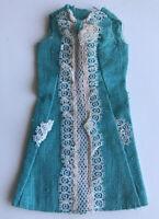 Vintage Mattel FRANCIE 1967-68 ICED BLUE Lacy LINEN Dress #1274