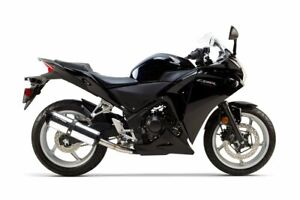2013 CBR 250R Two Brothers Polished Slip On Exhaust BLACK 2011 2012 CBR250R
