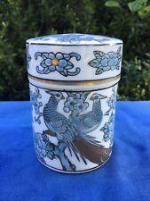 ANTIQUE Vintage Lovely GOLD IMARI Birds TRINKET BOX w/ LID HANDPAINTED Estate